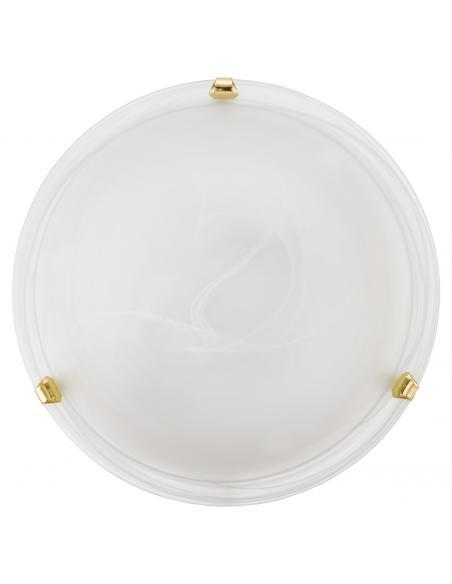 EGLO 7185 - SALOME Lámpara de Salón en Acero latón y Vidrio alabastro