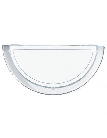 EGLO 83156 - PLANET 1 Lámpara de Salón en Acero cromo y Vidrio lacado