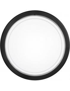 EGLO 83159 - PLANET 1 Lámpara de Salón en Acero negro y Vidrio lacado