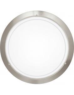 EGLO 83162 - PLANET 1 Lámpara de Salón en Acero níquel-mate y Vidrio lacado