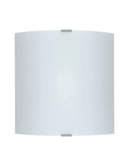EGLO 84026 - GRAFIK Lámpara de Salón en Acero plata y Vidrio satinado
