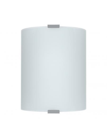EGLO 84028 - GRAFIK Lámpara de Salón en Acero plata y Vidrio satinado