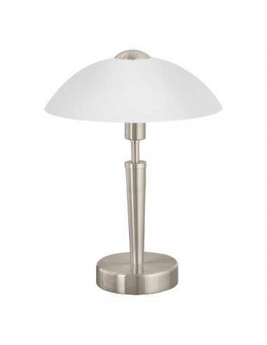 EGLO 85104 - SOLO 1 Lámpara de Salón en Acero níquel-mate y Vidrio satinado