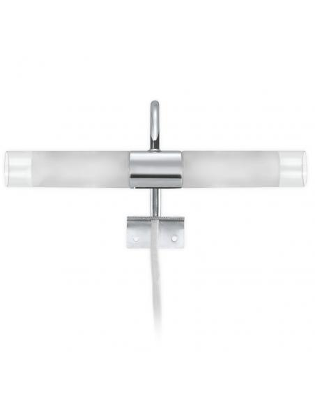 EGLO 85816 - GRANADA Lámpara de Salón en Acero cromo y Vidrio satinado
