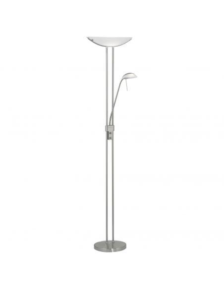 EGLO 85971 - BAYA Lámpara de Salón en Acero níquel-mate y Vidrio satinado