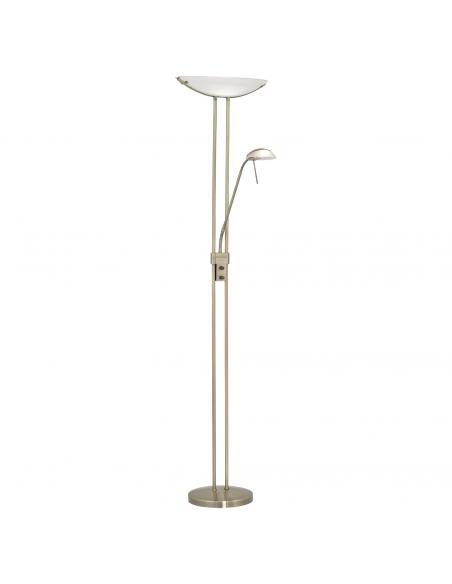 EGLO 85974 - BAYA Lámpara de Salón en Acero bruñido y Vidrio satinado