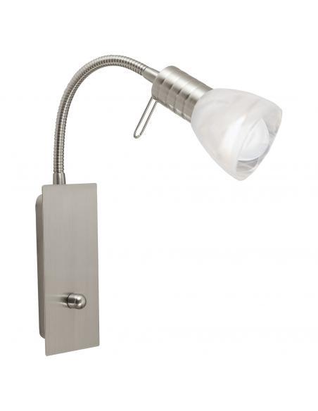 EGLO 86428 - PRINCE 1 Lámpara de Salón en Acero níquel-mate y Vidrio alabastro