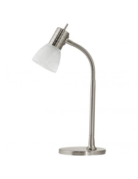 EGLO 86429 - PRINCE 1 Lámpara de Oficina en Acero níquel-mate y Vidrio alabastro