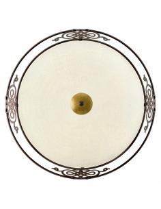 EGLO 86713 - MESTRE Lámpara de Salón en Acero marrón antiguo, oro y Vidrio encalado