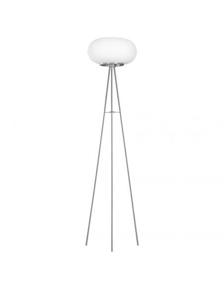 EGLO 86817 - OPTICA Lámpara de Salón en Acero níquel-mate y Vidrio opalino mate