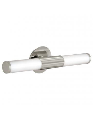 EGLO 87222 - PALMERA Aplique para Baño en Acero níquel-mate y Vidrio opalino mate