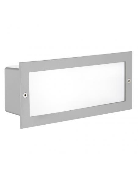 EGLO 88008 - ZIMBA Lámpara Empotrable en Fundición de aluminio plata y Vidrio satinado