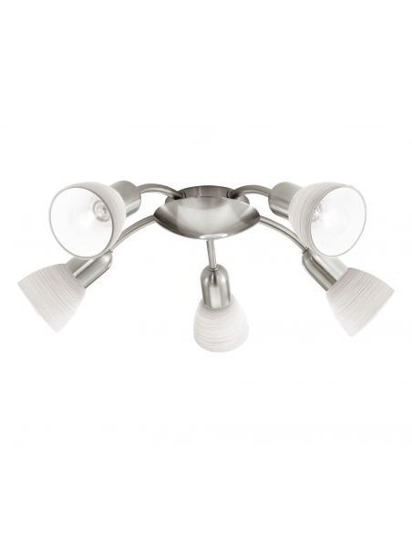 EGLO 88476 - DAKAR 1 Lámpara de Salón en Acero níquel-mate y Vidrio técnica de limpieza