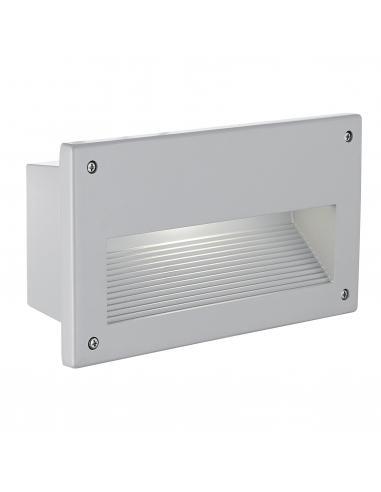 EGLO 88575 - ZIMBA Lámpara Empotrable en Fundición de aluminio plata y Vidrio satinado