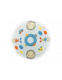 EGLO 88972 - JUNIOR 2 Lámpara de Dormitorio Intantil en Acero blanco y Vidrio satinado