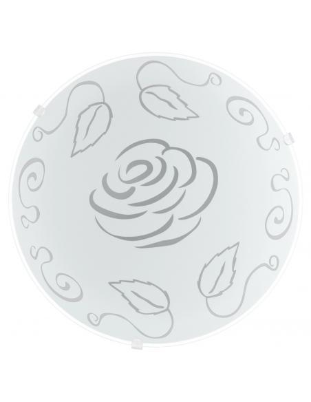 EGLO 89238 - MARS 1 Lámpara de Salón en Acero blanco y Vidrio satinado