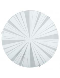 EGLO 89239 - MARS 1 Lámpara de Salón en Acero blanco y Vidrio satinado