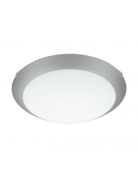 EGLO 89248 - MARS 1 Lámpara de Salón en Acero blanco y Vidrio satinado