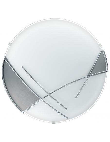 EGLO 89758 - RAYA Lámpara de Salón en Acero blanco, cromo y Vidrio satinado