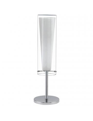 EGLO 89835 - PINTO Lámpara de Salón en Acero cromo y Vidrio, vidrio opalino mate