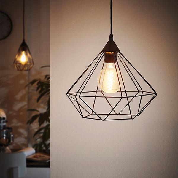 lámpara colgante TARBES de EGLO en color negro