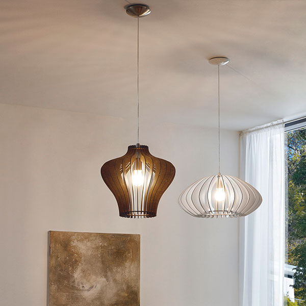 lámparas de madera colección COSSANO